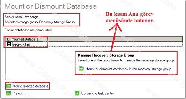 exchange storage group: