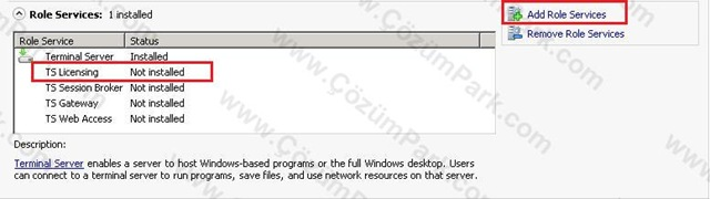 how to start terminal services in windows server 2003